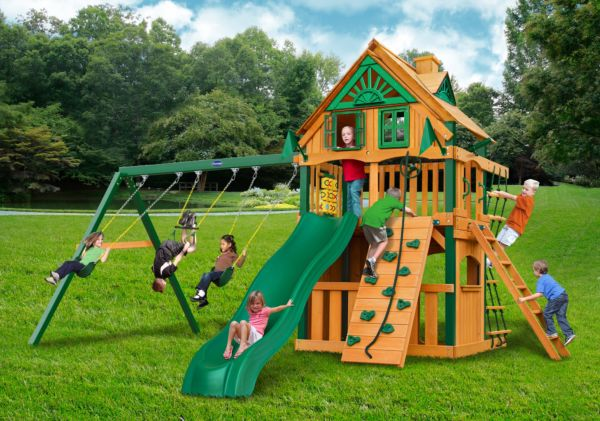 horizon clubhouse treehouse w fort add on swing set playnation orlando. Black Bedroom Furniture Sets. Home Design Ideas