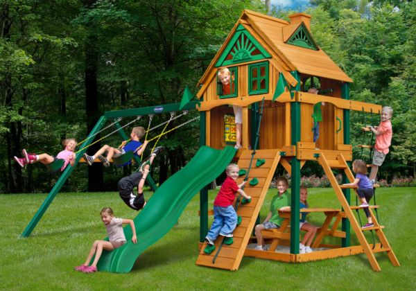 horizon treehouse swing set with fort add on playnation orlando. Black Bedroom Furniture Sets. Home Design Ideas